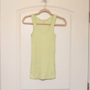 Lime Green Ribbed Tank Top